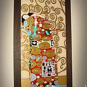 """Картины и панно ручной работы. Ярмарка Мастеров - ручная работа По мотивам Г.Климт """"Упоение"""" (ФРАГМЕНТ). Handmade."""
