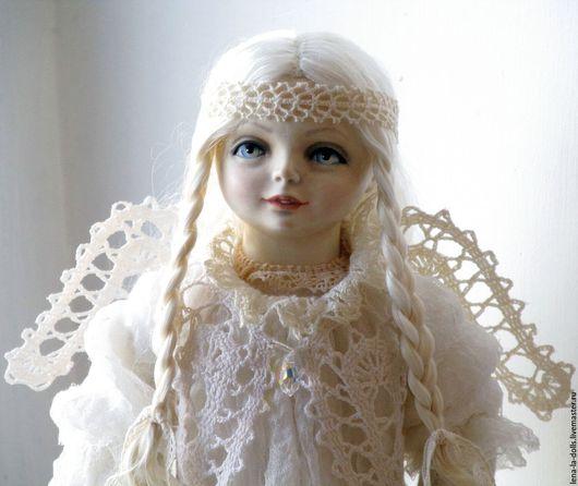 Коллекционные куклы ручной работы. Ярмарка Мастеров - ручная работа. Купить Ангел Авторская коллекционная кукла из фарфора. Handmade. Белый