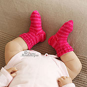 Работы для детей, ручной работы. Ярмарка Мастеров - ручная работа носочки для новорожденного малыша. Handmade.