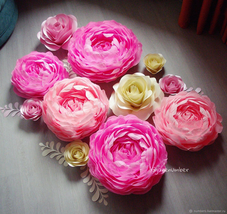 Цветочный сет из пионов и роз, Цветочный декор, Москва,  Фото №1