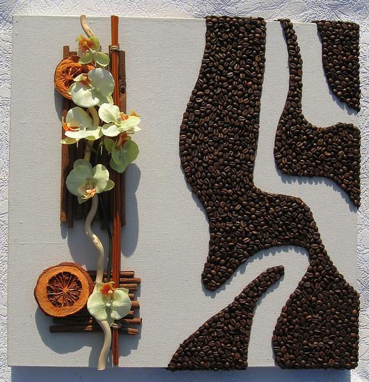 Интерьерные композиции ручной работы. Ярмарка Мастеров - ручная работа. Купить 4 панно в смешанной технике. Handmade. Панно