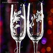 """Свадебный салон ручной работы. Ярмарка Мастеров - ручная работа Свадебные бокалы """"Vita"""". Handmade."""