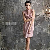 Одежда ручной работы. Ярмарка Мастеров - ручная работа Валяное платье «Розовый поцелуй». Handmade.
