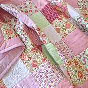 Для дома и интерьера ручной работы. Ярмарка Мастеров - ручная работа Цветочный конфитюр Лоскутное одеяло покрывало для кроватки. Handmade.