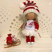 Куклы и игрушки ручной работы. Ярмарка Мастеров - ручная работа Новогодняя куколка. Handmade.