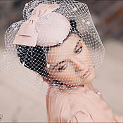 """Свадебный салон ручной работы. Ярмарка Мастеров - ручная работа шляпка свадебная шелковая """"Алина"""". Handmade."""
