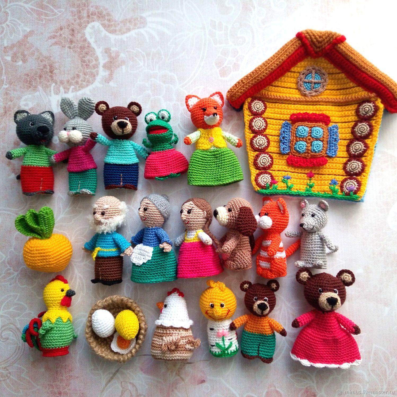 Большой набор пальчиковых игрушек, Кукольный театр, Владивосток,  Фото №1