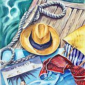 Картины и панно handmade. Livemaster - original item Watercolor Vacation at sea watercolour. Handmade.