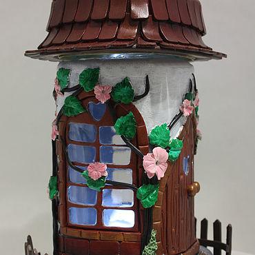 Для дома и интерьера ручной работы. Ярмарка Мастеров - ручная работа 16 Домик-баночка-шкатулка-светильник. Handmade.