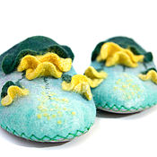 Обувь ручной работы handmade. Livemaster - original item Felted Slippers (felted Slippers). Handmade.