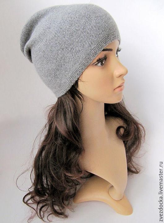 """Шапки ручной работы. Ярмарка Мастеров - ручная работа. Купить шапка """"Soft gray"""". Handmade. Серый, мягкая шапка"""