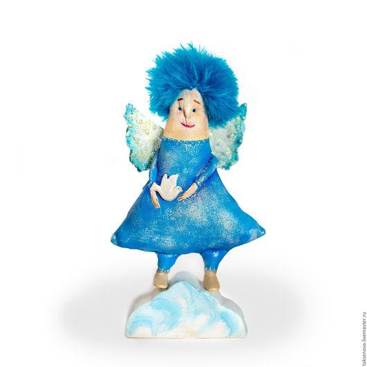 Коллекционные куклы ручной работы. Ярмарка Мастеров - ручная работа. Купить Текстильная кукла Ангел Голубого неба. Handmade. Голубой