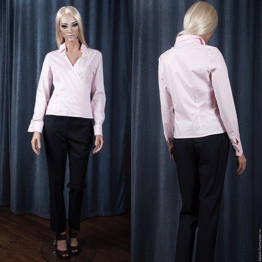 Блузки ручной работы. Ярмарка Мастеров - ручная работа. Купить Розовая блузка в Японском стиле с запахом. Handmade. Бледно-розовый