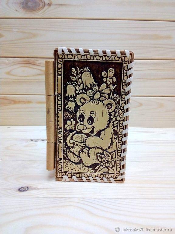 Birch bark jewelry box 'Teddy Bear'. Jewelry storage box, Box, Tomsk,  Фото №1