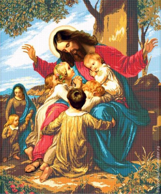 Иисус Христос и дети.