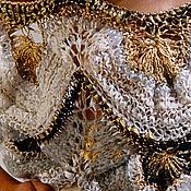 """Платья ручной работы. Ярмарка Мастеров - ручная работа Платье туника джемпер  """"Жемчужина""""золото,серебро,шелк,мохер. Handmade."""