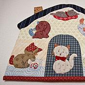"""Картины и панно handmade. Livemaster - original item Panel """"House with kittens"""", application. Handmade."""