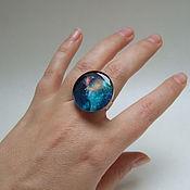 Украшения handmade. Livemaster - original item Large Ring with Universe Space Galaxy nebula 2. Handmade.