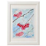 Картины и панно handmade. Livemaster - original item Watercolor Rowan. Handmade.