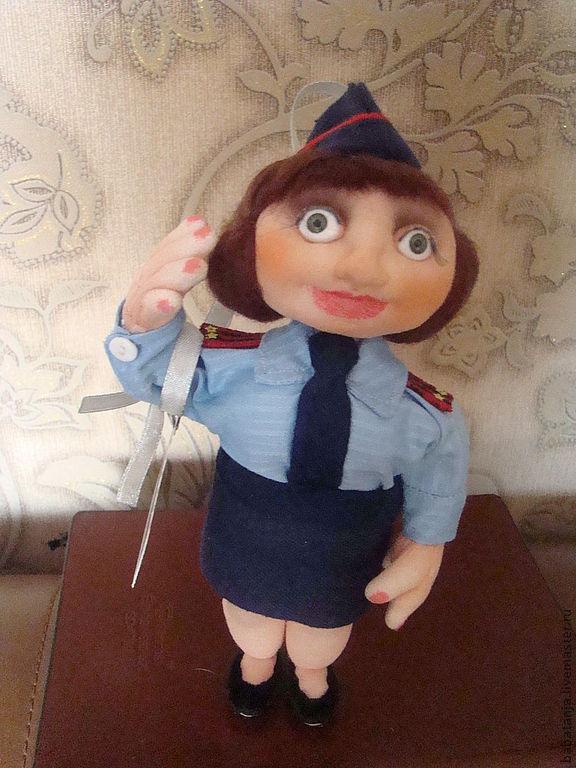 Кукла из колготок полицейский своими руками