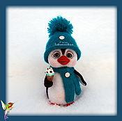 Куклы и игрушки ручной работы. Ярмарка Мастеров - ручная работа Валяная игрушка пингвин Нордик. Handmade.