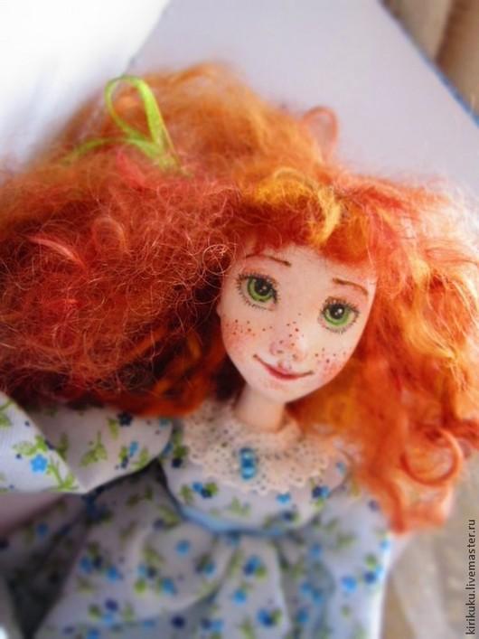 Коллекционные куклы ручной работы. Ярмарка Мастеров - ручная работа. Купить Анне.... Handmade. Рыжий, холодное сердце, хлопок