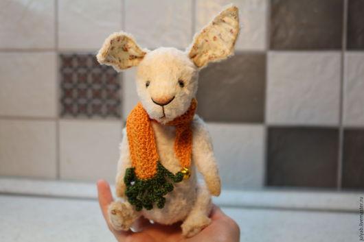 Мишки Тедди ручной работы. Ярмарка Мастеров - ручная работа. Купить Заяц тедди. Handmade. Белый, зайчонок