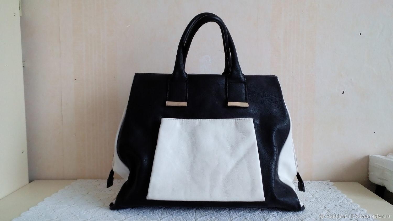 aede03317523 Винтаж: 41 см. Большая сумка Shopper-bag, 80-е – купить в интернет ...