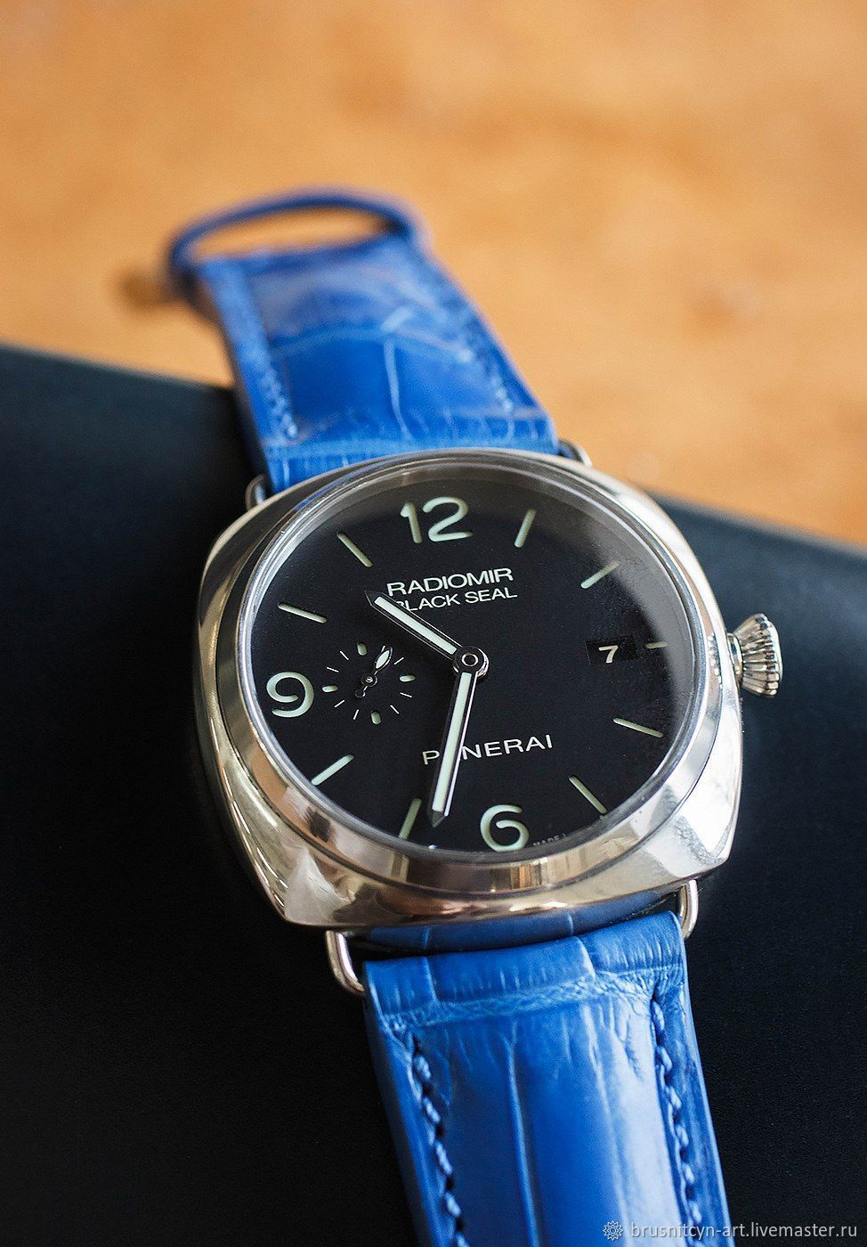 Crocodile leather watchband for Panerai, Watch Straps, St. Petersburg,  Фото №1