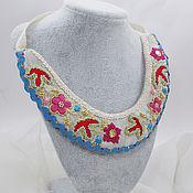 Украшения handmade. Livemaster - original item Necklace: Folk the collar and headdress for girls. Handmade.