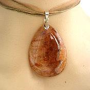Украшения handmade. Livemaster - original item Pendant of orange agate with Geode. Handmade.