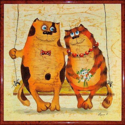 Животные ручной работы. Ярмарка Мастеров - ручная работа. Купить Влюблённые котики. Handmade. Любовь, День Святого Валентина