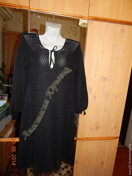Платья ручной работы. Ярмарка Мастеров - ручная работа. Купить Платье черное. Handmade. Черный, платье вязаное, шифон