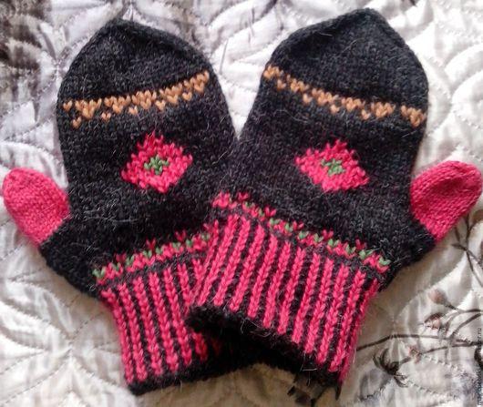 """Варежки, митенки, перчатки ручной работы. Ярмарка Мастеров - ручная работа. Купить Зимняя распродажа! Варежки """"Веселые рукавички"""". Handmade."""