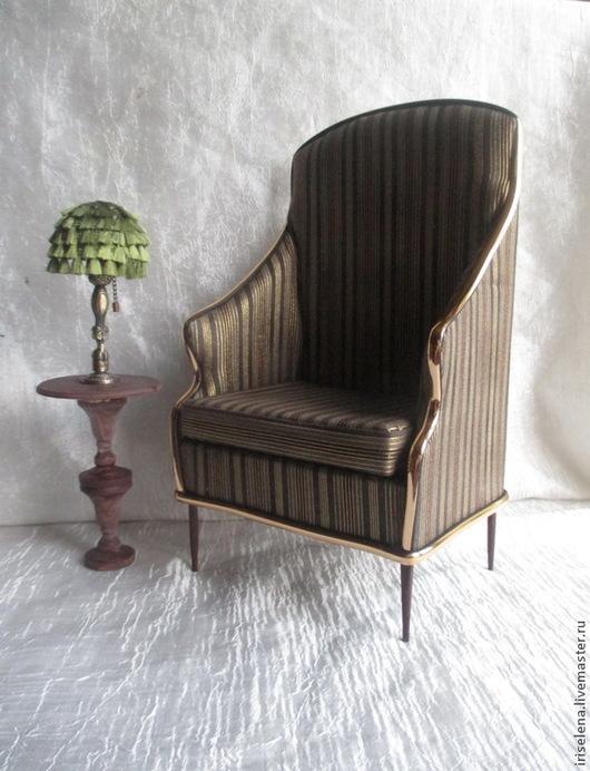 """Кукольный дом ручной работы. Ярмарка Мастеров - ручная работа. Купить Кресло с высокой спинкой """"Классика старины"""" Для кукол от 35 до 43 см. Handmade."""