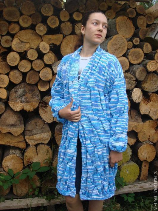 Кофты и свитера ручной работы. Ярмарка Мастеров - ручная работа. Купить лало-кардиган. Handmade. Тёмно-синий, кардиган