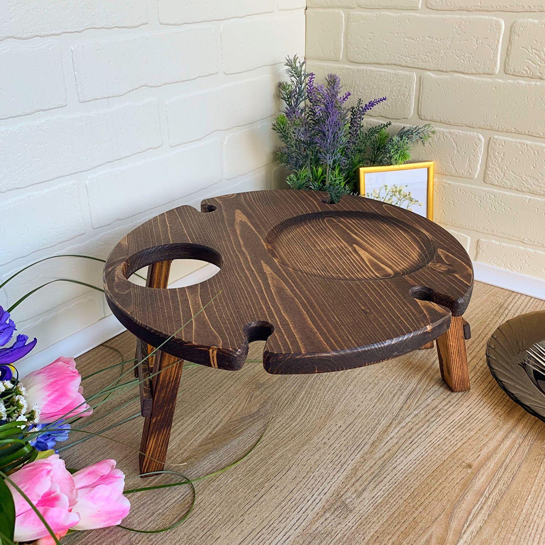 Винница Винный столик из дерева, Подносы, Тольятти,  Фото №1