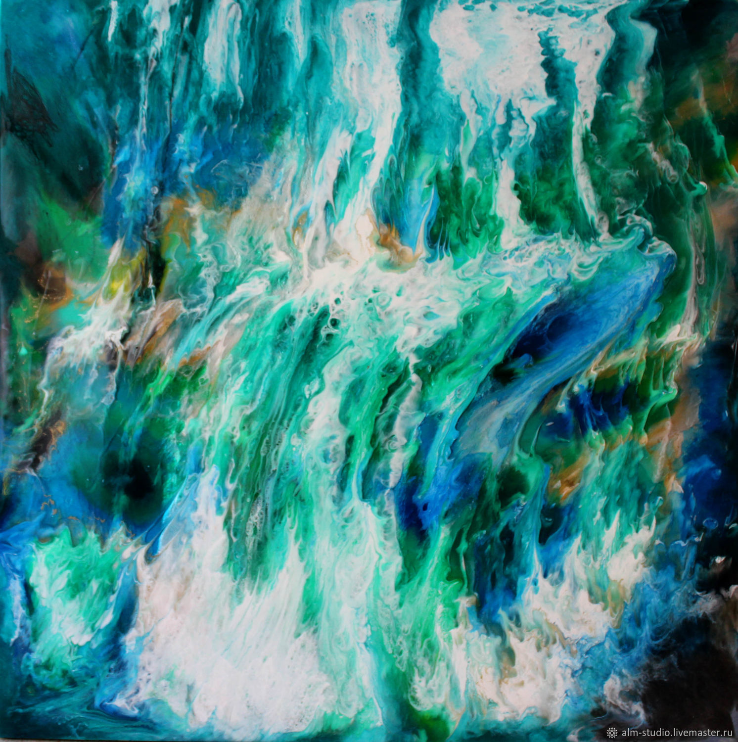 Painting for the interior of an epoxy resin Waterfall.70 by 70 cm, Pictures, Obninsk,  Фото №1
