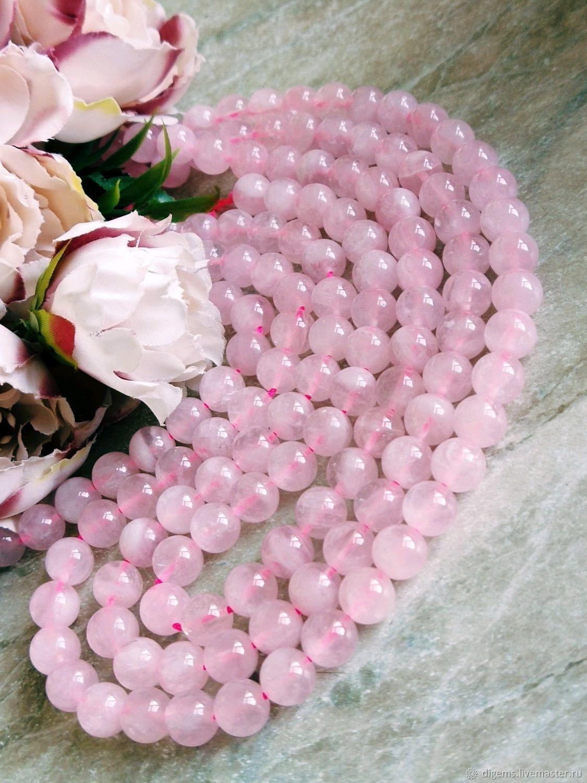 Мадагаскарский розовый кварц 8 мм бусины, Бусины, Краснодар,  Фото №1