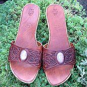 Обувь ручной работы. Ярмарка Мастеров - ручная работа Сабо из кожи растительного дубления. Handmade.