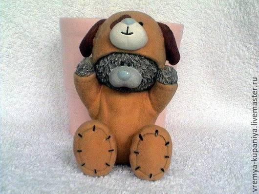 """Другие виды рукоделия ручной работы. Ярмарка Мастеров - ручная работа. Купить Силиконовая форма для мыла  """"Тедди в костюме щенка"""". Handmade."""