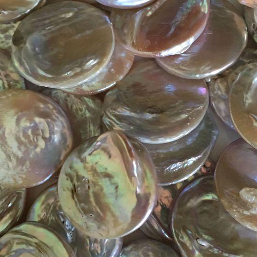 """Для украшений ручной работы. Ярмарка Мастеров - ручная работа. Купить Жемчуг крупный А """"Монетки"""". Handmade. Купить жемчуг"""