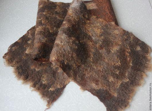 Шарфы и шарфики ручной работы. Ярмарка Мастеров - ручная работа. Купить Шарф-кашне мужской зимний Шорох леса. Handmade.