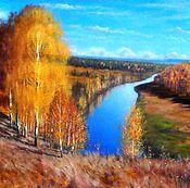 картина маслом.пейзаж.Золотая осень