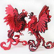 Подарки к праздникам ручной работы. Ярмарка Мастеров - ручная работа Две  Жар птицы (статуэтка жарптица, птица феникс). Handmade.