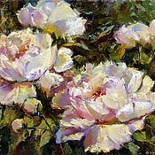 Картины и панно handmade. Livemaster - original item Oil painting peonies, order a picture with peonies, flowers oil. Handmade.
