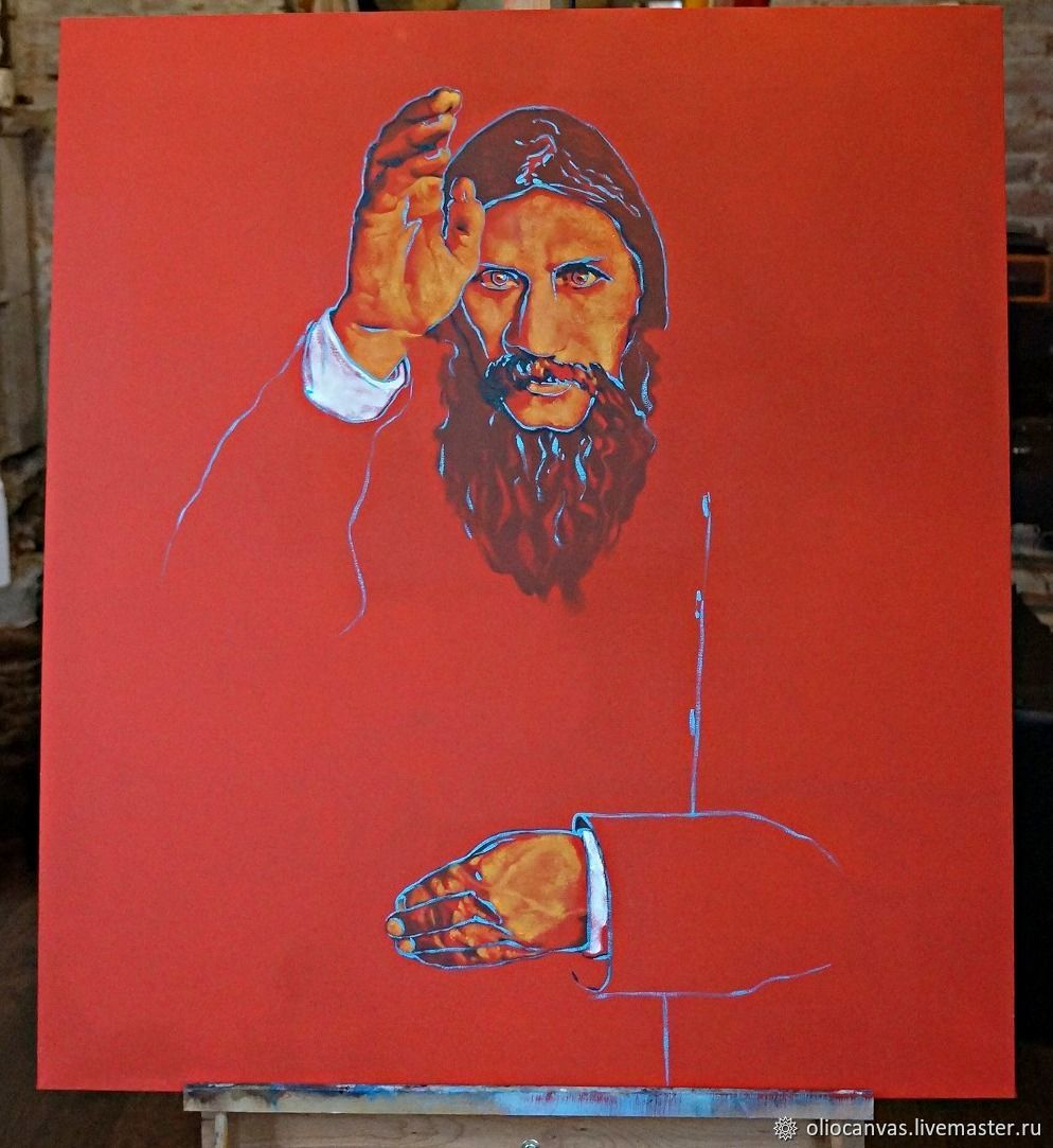 Painting in the style of pop art 'Rasputin'. Oil. Canvas. 80h90cm, Pictures, St. Petersburg,  Фото №1