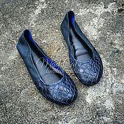 Обувь ручной работы handmade. Livemaster - original item Ballet shoes made of genuine alligator leather and sheepskin. Handmade.