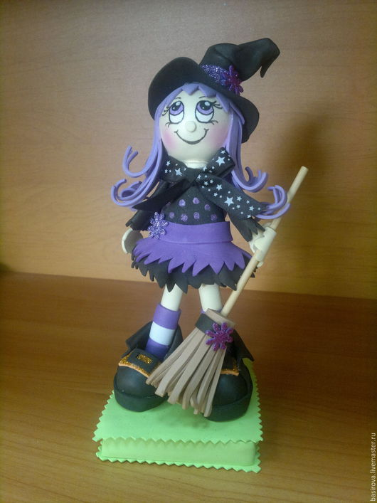 Человечки ручной работы. Ярмарка Мастеров - ручная работа. Купить Колдуньи и Баба Яга куклы из фоамирана. Handmade. Ведьма