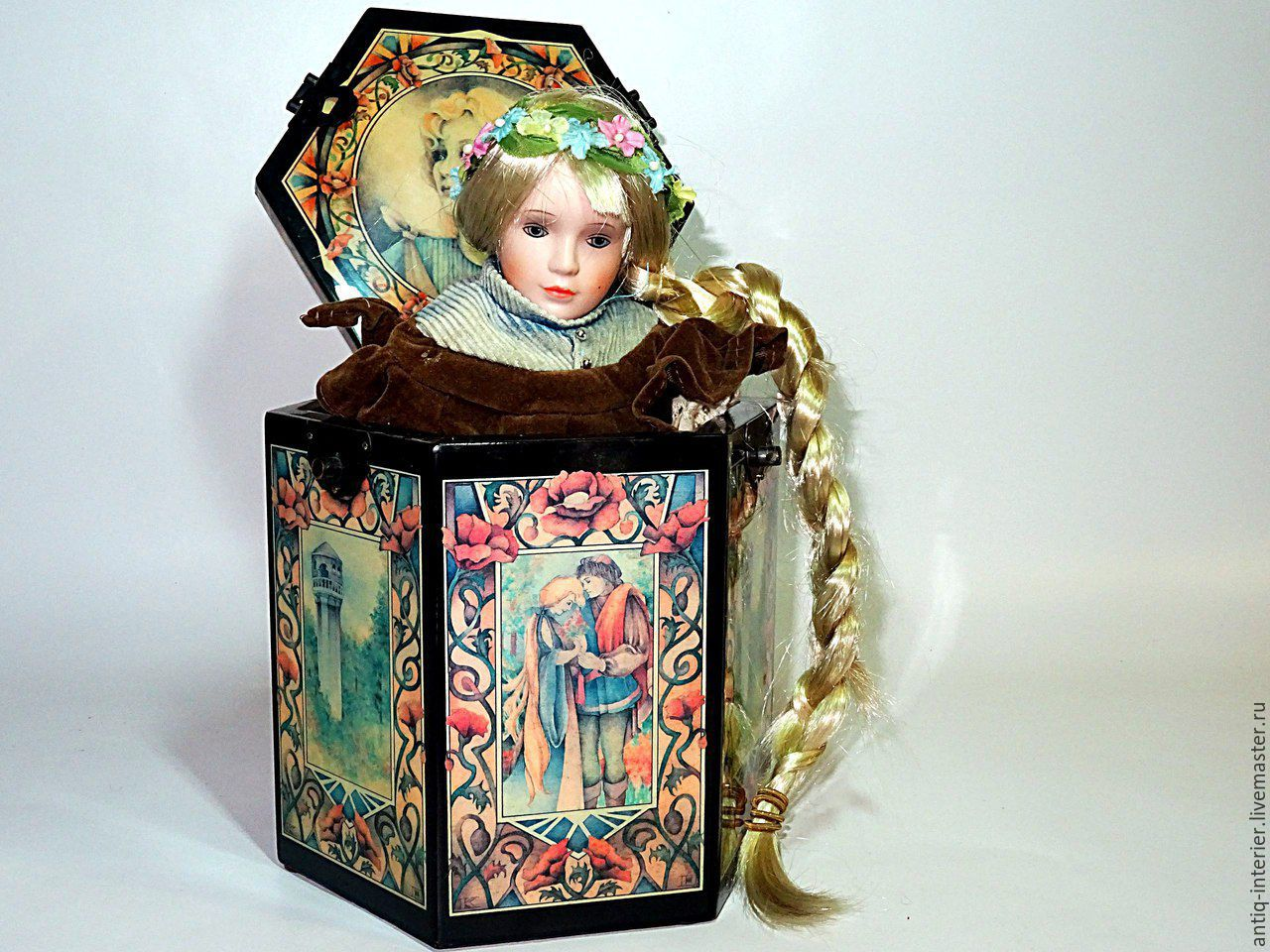 Musical doll in the Enesco box, Vintage toy, Kaliningrad,  Фото №1